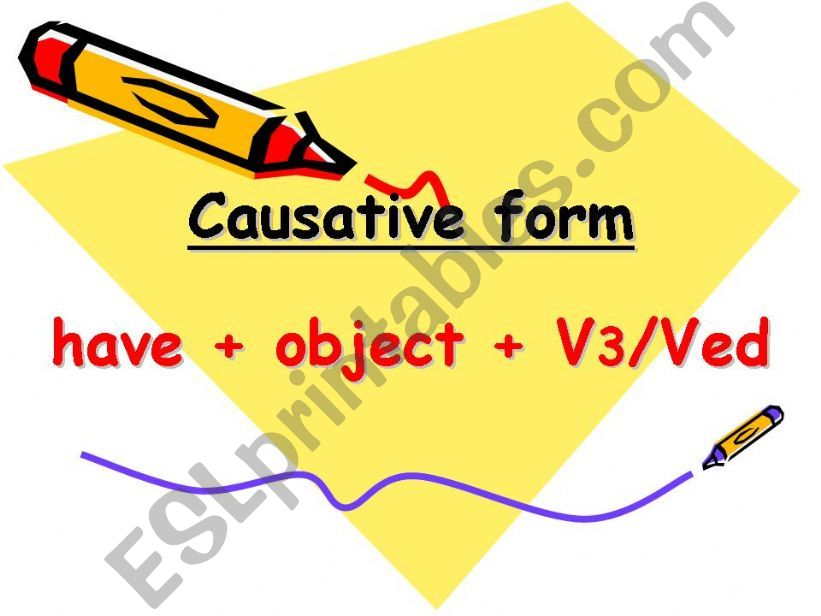 Causative form powerpoint