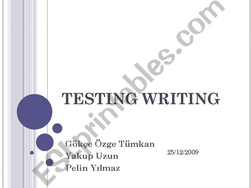 Guideline to Prepare Writing Tests