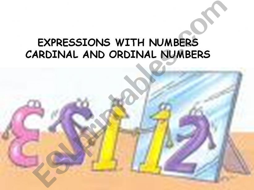 cardinal-ordinal numbers powerpoint