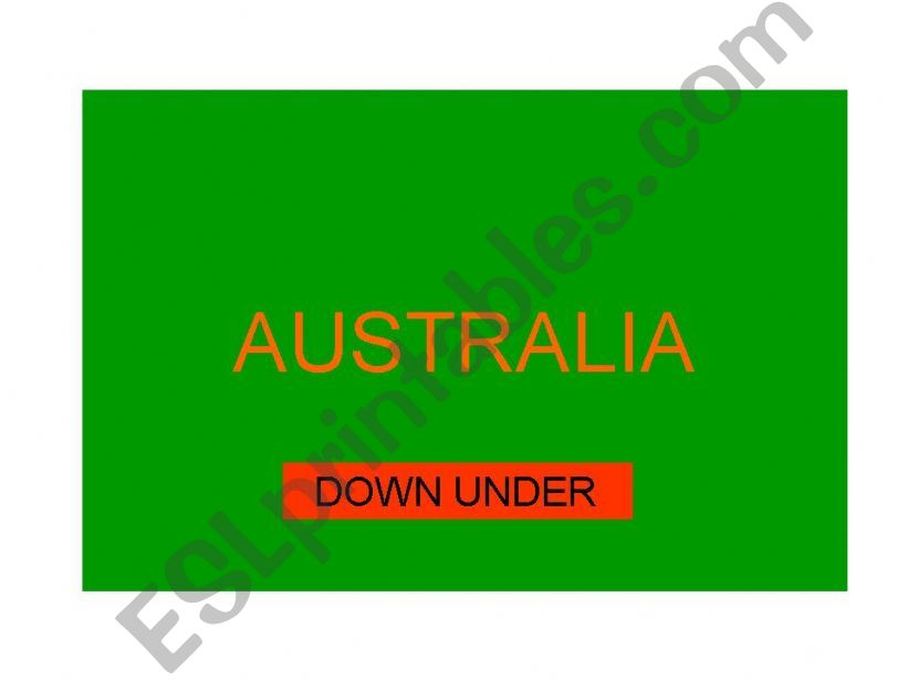 Australia country file powerpoint