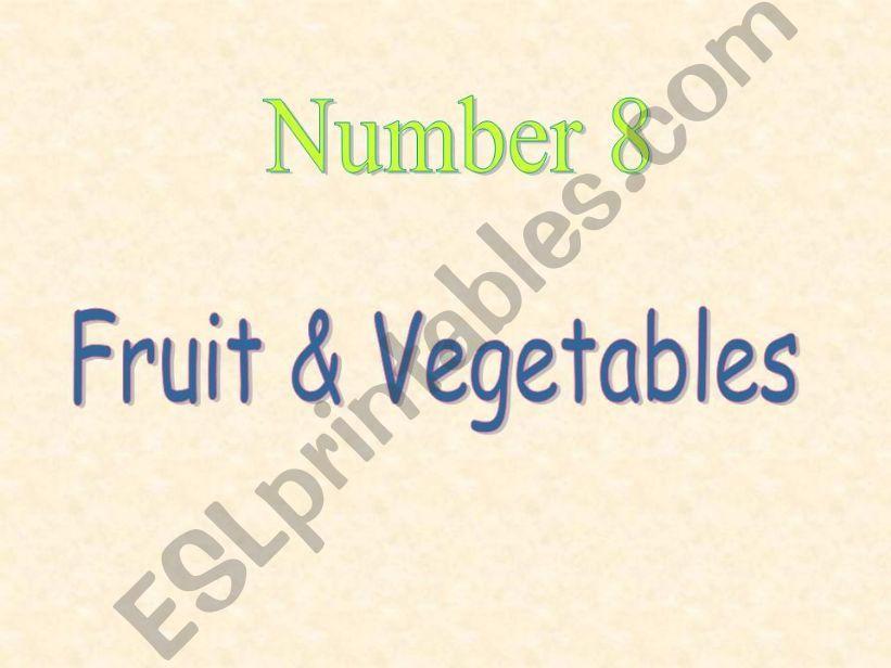 Fruit & Vegetables powerpoint