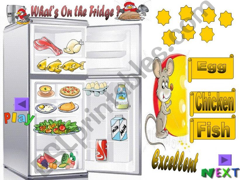 What´s on the fridge? (part2) powerpoint