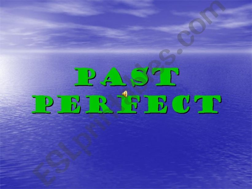 Past perfect 1/1 powerpoint