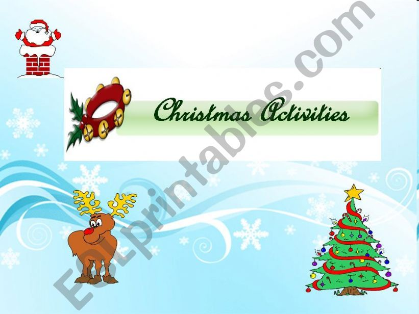 Christmas Activity powerpoint