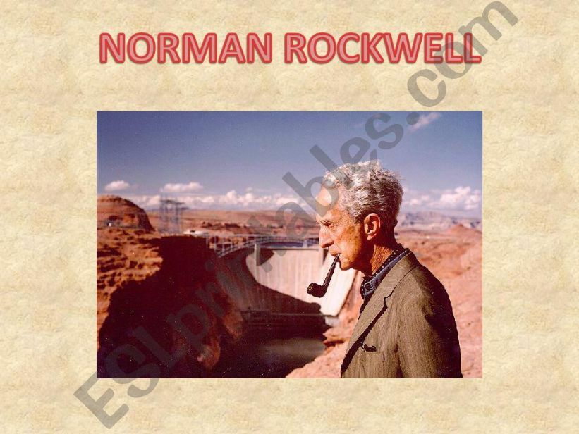 How to present a slideshow about Norman Rockwell