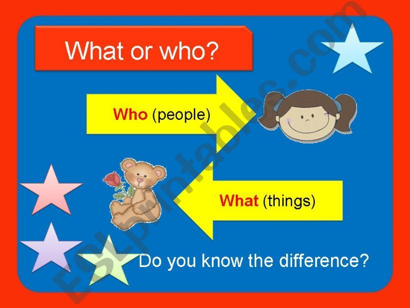 What or Who? powerpoint