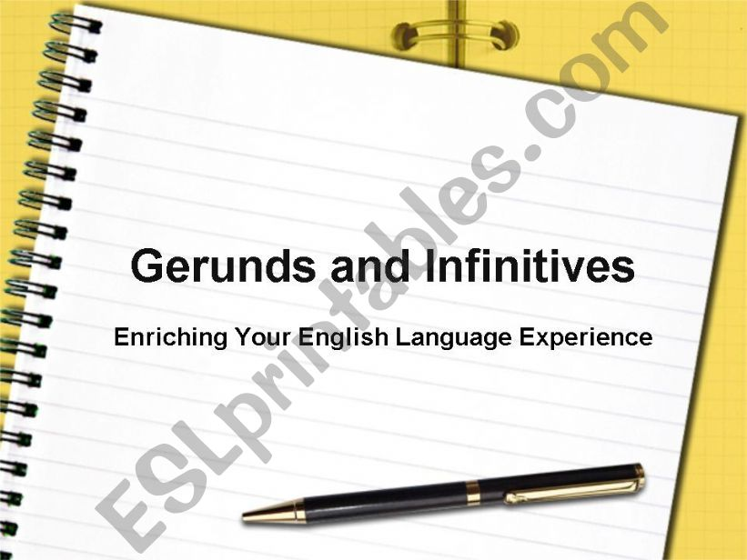 Gerunds and Infinitives powerpoint