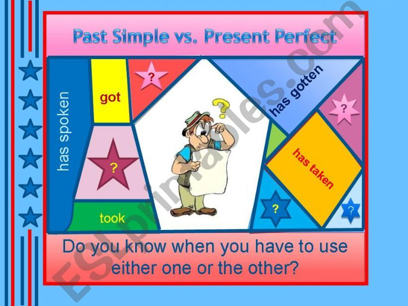 Past Simple or Present Perfect? - grammar guide + examples + test