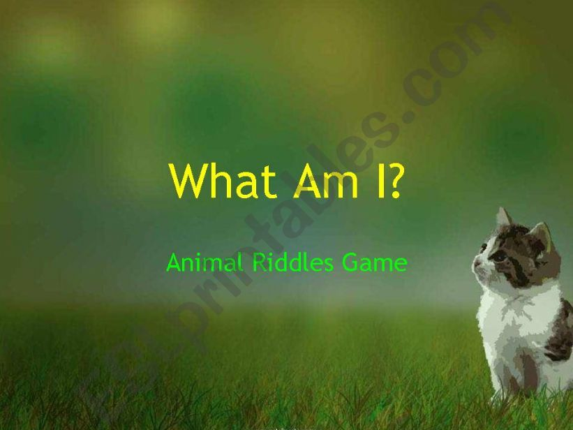 Animal Riddles (FREE template)