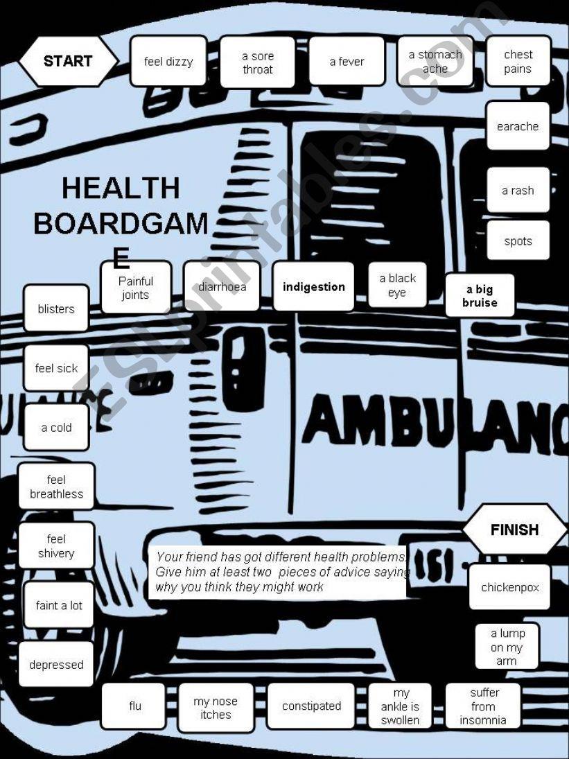 Health-a boardgame -editable powerpoint
