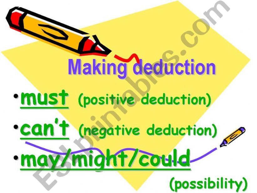 Making deduction powerpoint