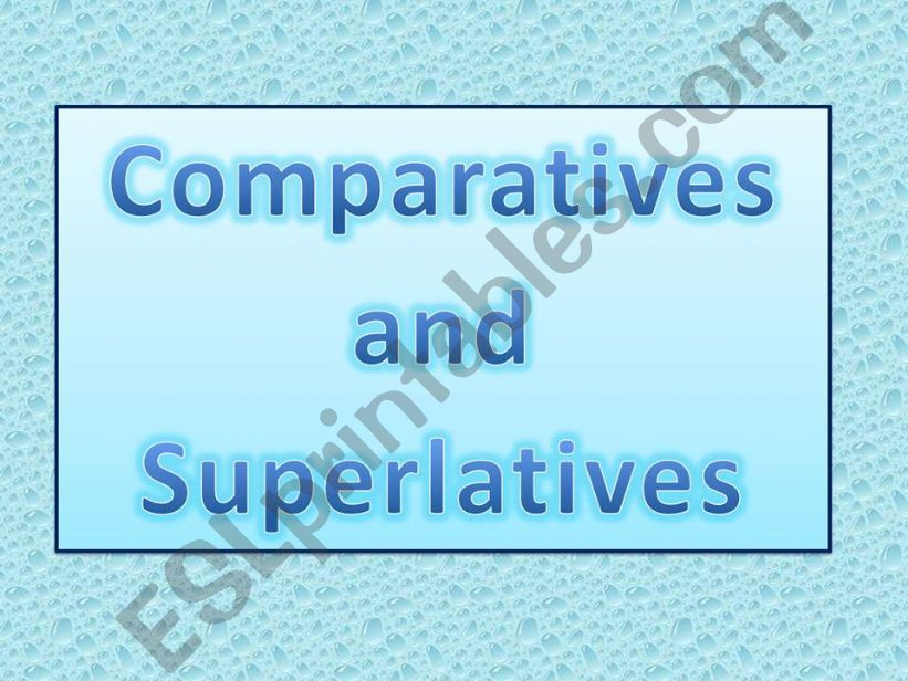 Degrees of adjectives powerpoint