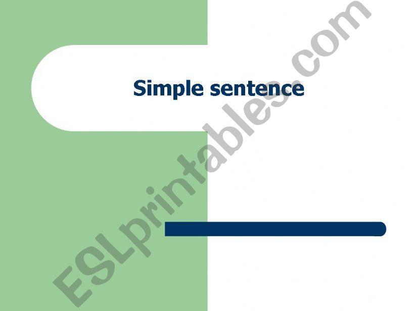Simple sentence powerpoint
