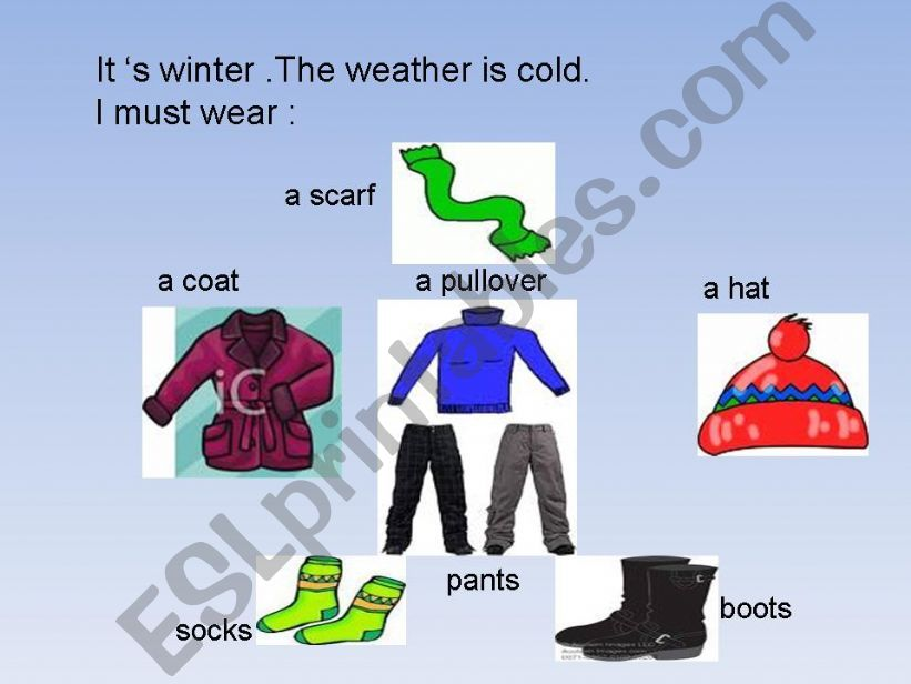Clothes and seasons. powerpoint