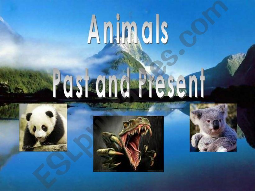 Animals Past and present powerpoint