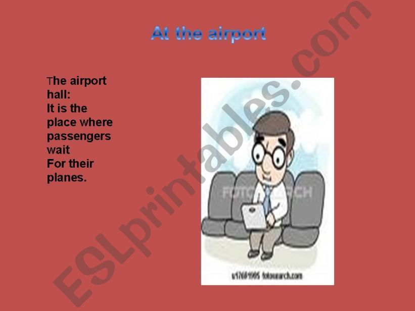 At the airport powerpoint