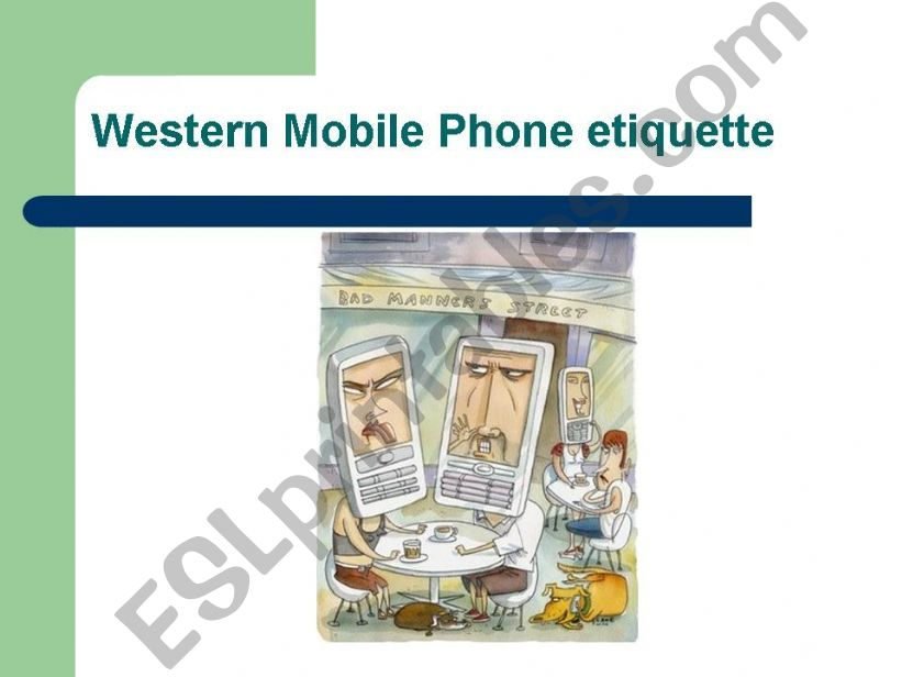Mobile Phone Dos and Don´ts powerpoint