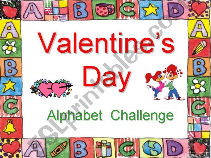Valentine´s Day Alphabet Challenge