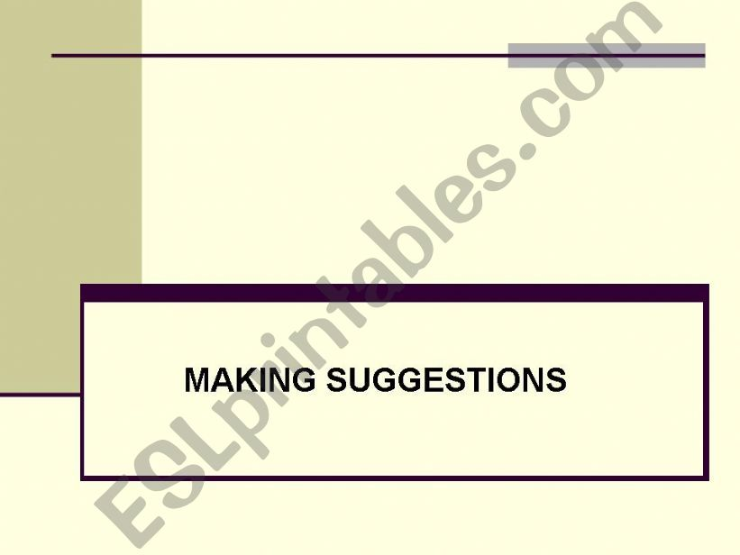 Making Suggestions powerpoint