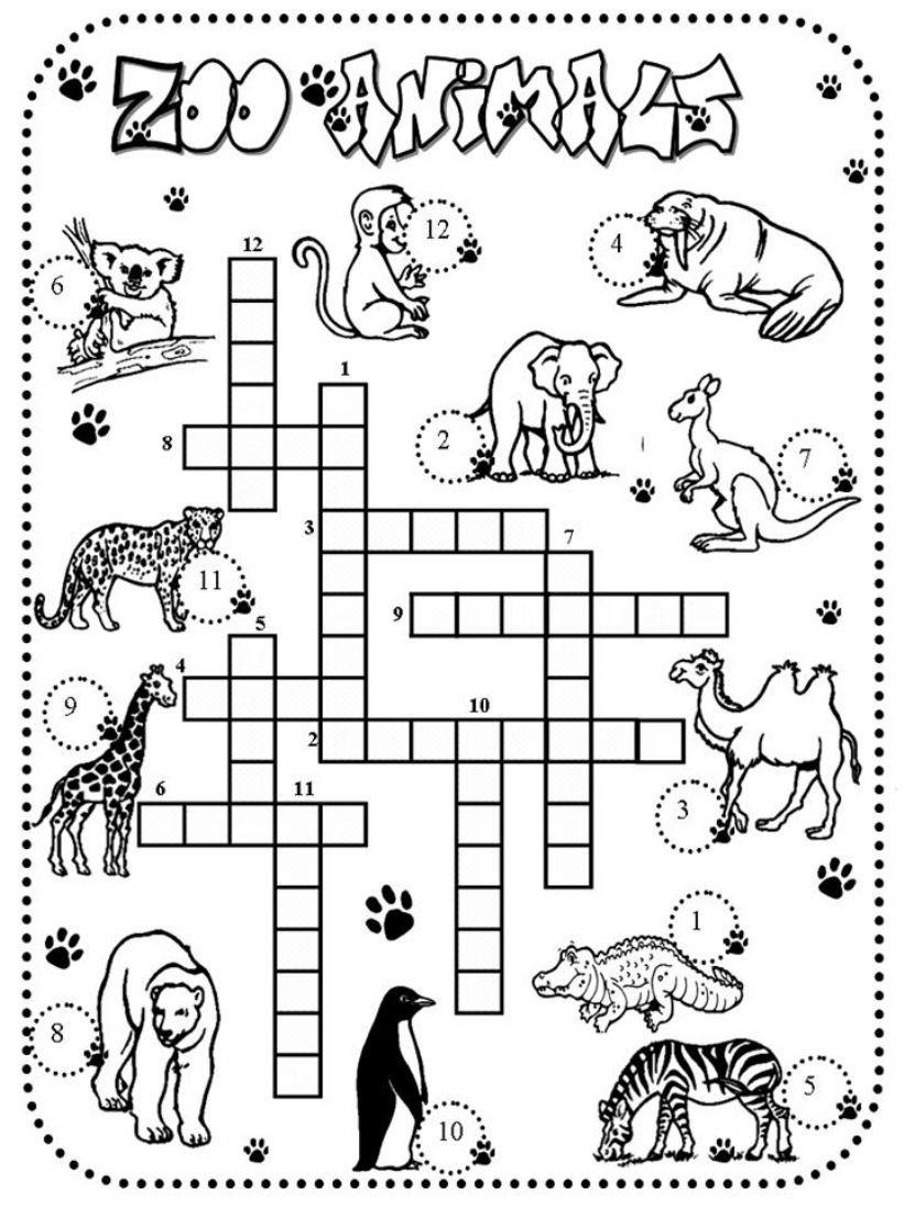 crossword zoo animals powerpoint