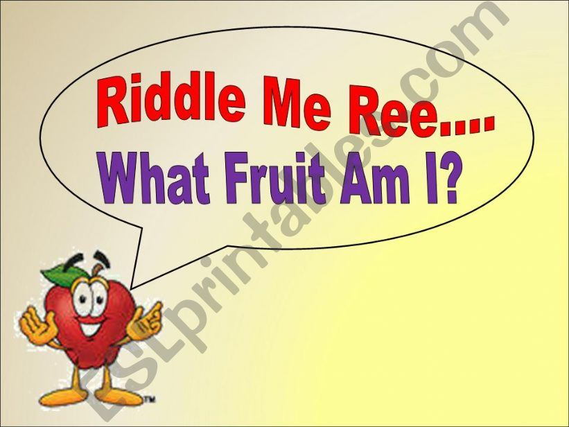 Fruit Riddles powerpoint