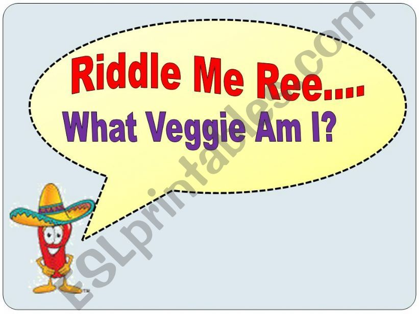 Vegetable Riddles powerpoint