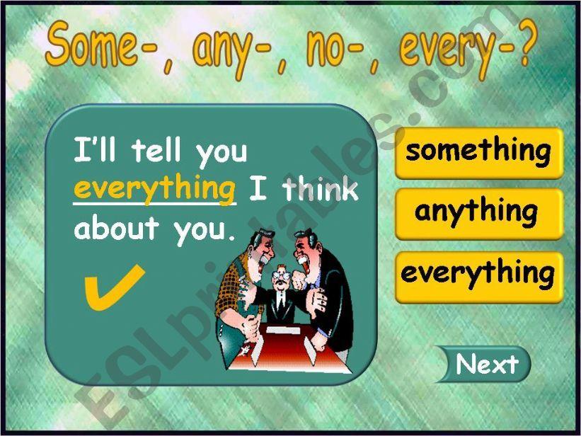 Something - Anything - Everything - Nothing (part 3)
