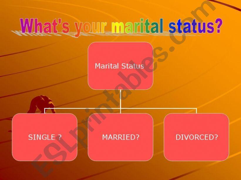 Marital status powerpoint