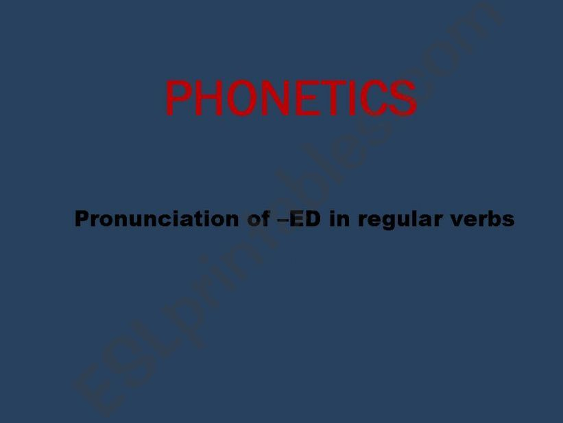 Pronunciation of the