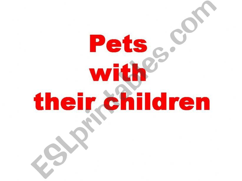 animals and baby animals powerpoint