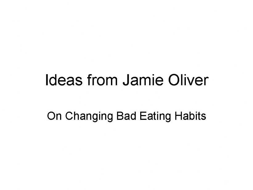 Comprehension quiz for the TED video on obesity by Jamie Oliver