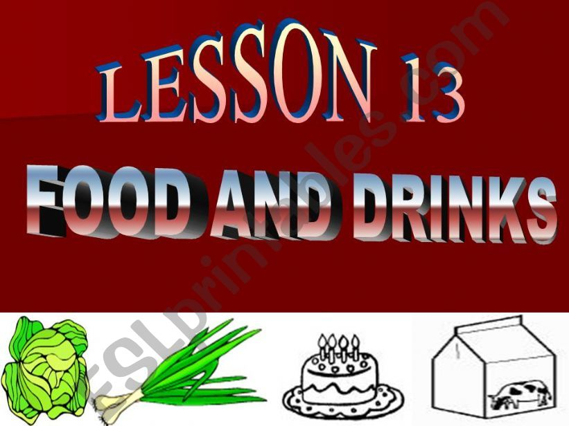 Food and drink powerpoint