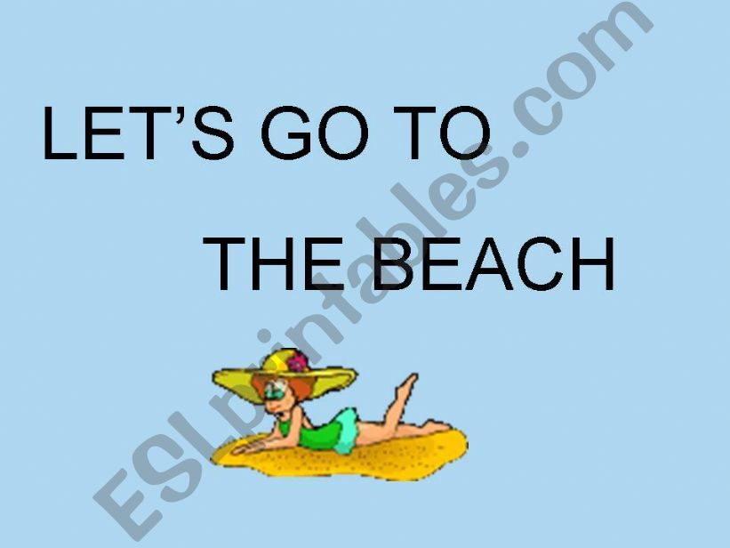 LET´S GO TO THE BEACH powerpoint