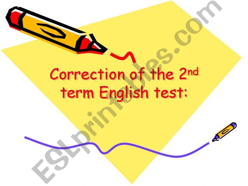 correction of test powerpoint
