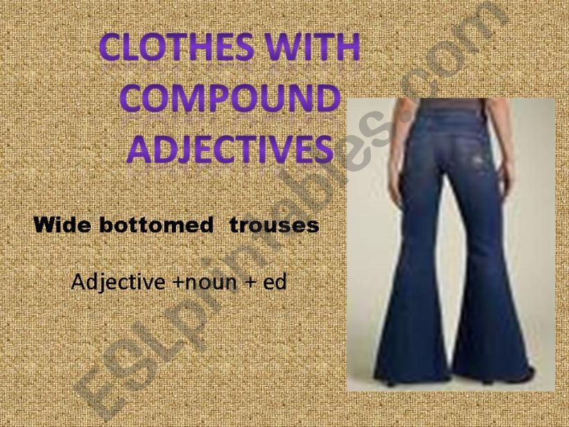 Clothes with compound adjectives