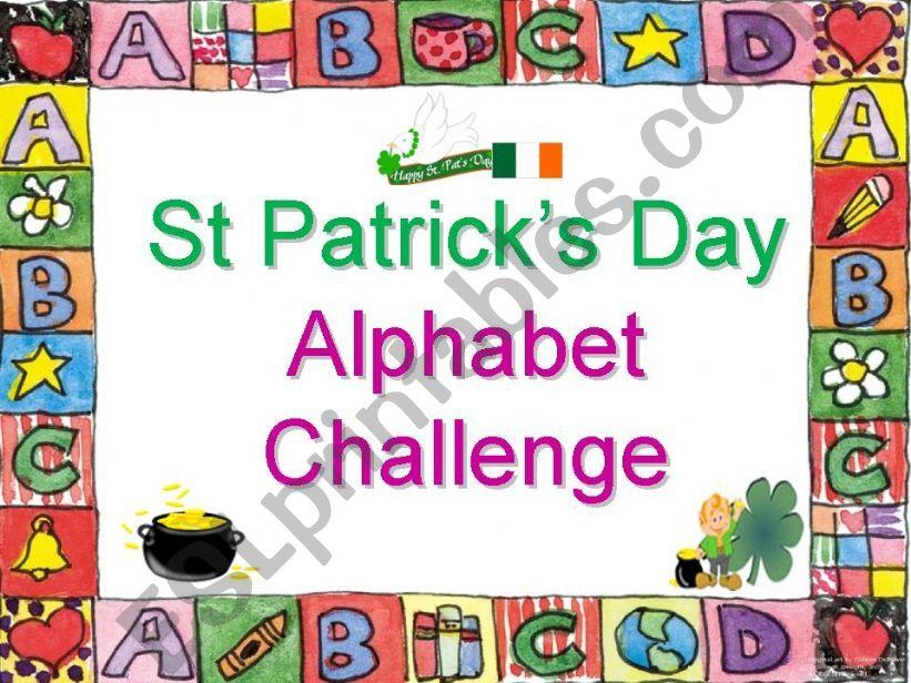 St Patrick´s Day Alphabet Challenge