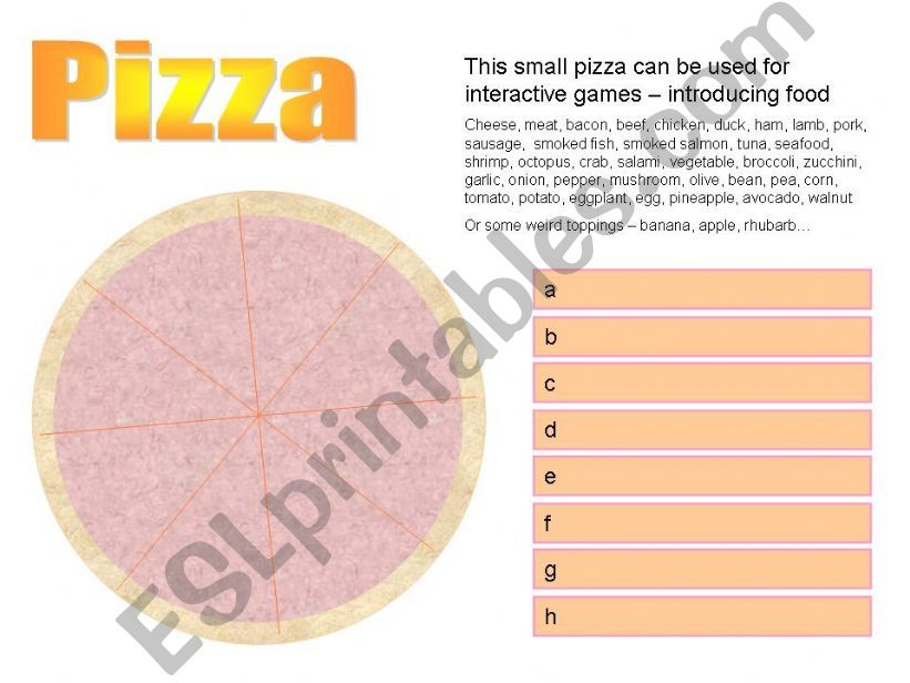 Pizza powerpoint
