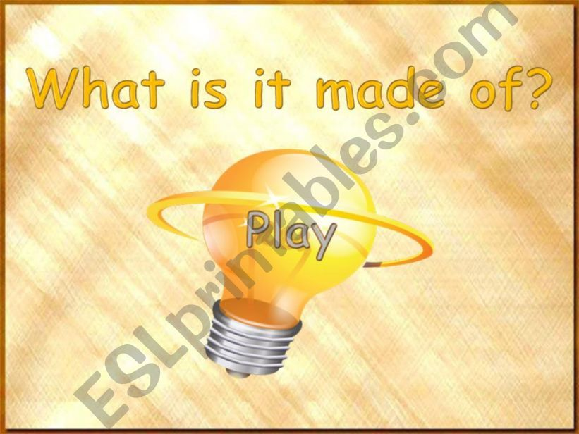 What is it made of? (part 1) powerpoint