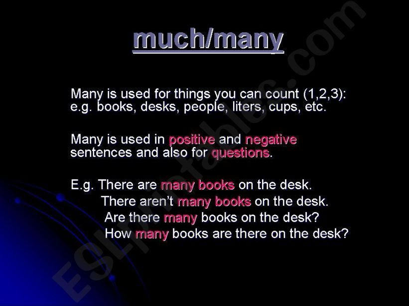 Much and Many powerpoint