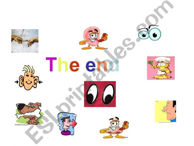 Our Five Senses - The End powerpoint