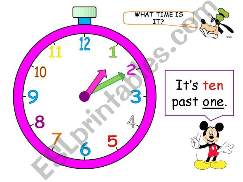 What time is it? (Part 2 - 11 animated slides)