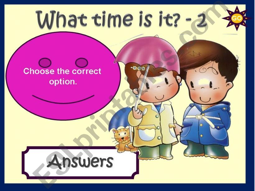 WHAT TIME IS IT? - GAME (2) powerpoint