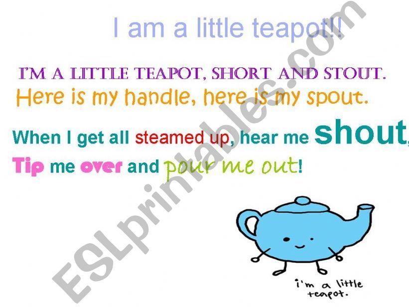I´m a little teapot! powerpoint