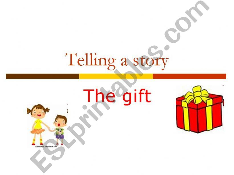 The Gift - Reporting Verbs powerpoint