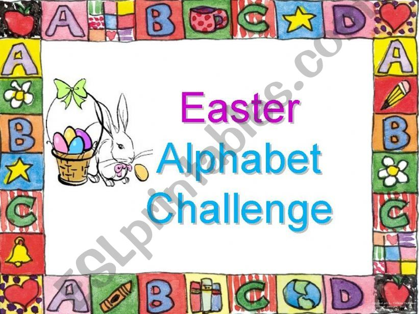 Easter Alphabet Challenge powerpoint