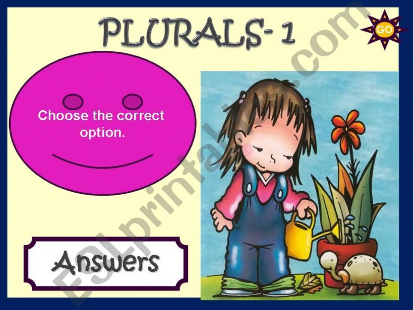 PLURALS - GAME powerpoint