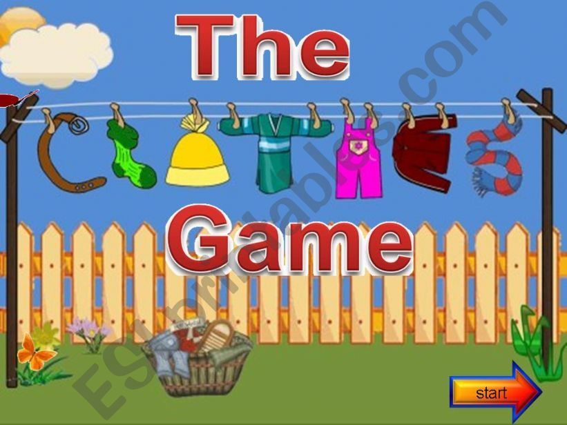 The clothes game 1 powerpoint