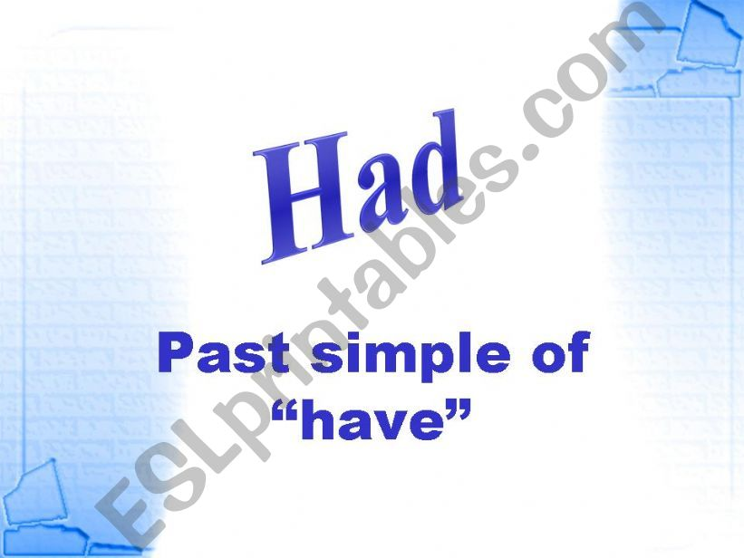 past simple of