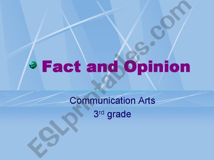 Fact Opinion Power Point powerpoint