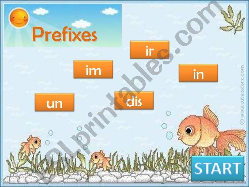 Make opposites - Prefixes Game part 1